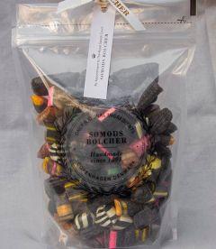 Blandede sorte bolcher 500g