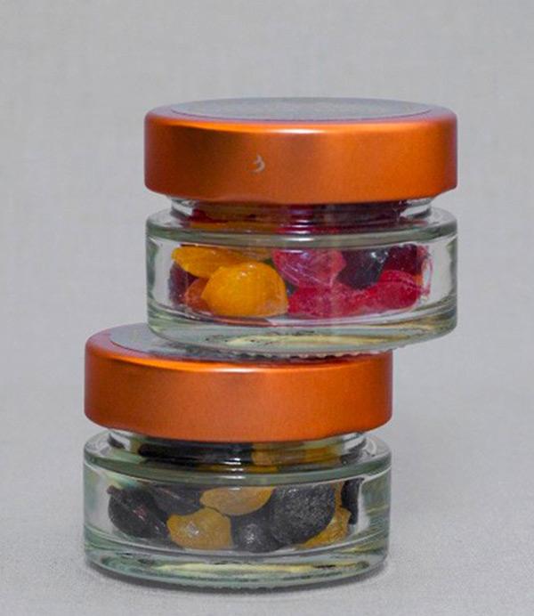Færdigblandede bolcher i glas