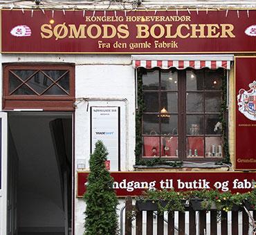 Indgangen til Sømods Bolcher