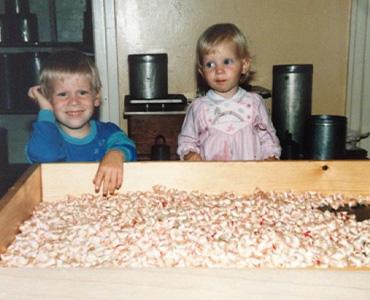 Mike og Camilla Sømod som børn