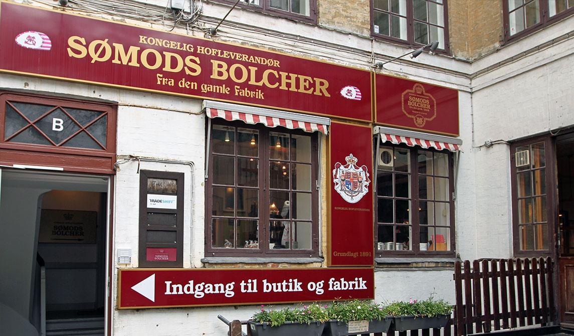 Indgang til Sømods Bolcher butikken